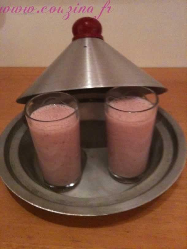 Milk-shake fraise/banane