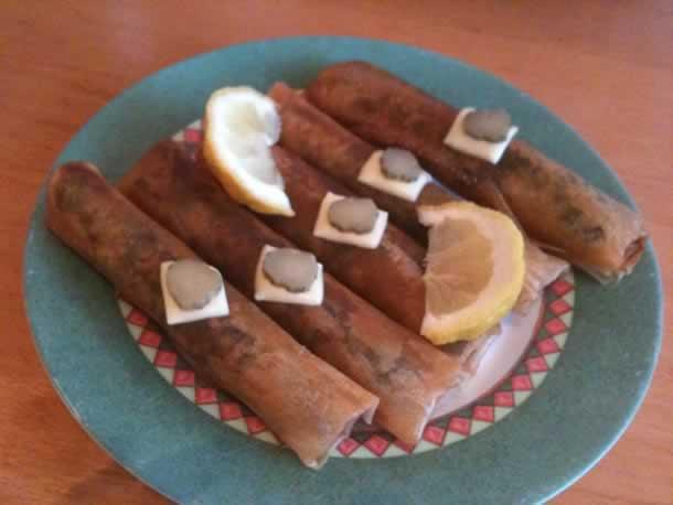 Bricks aux épinards et viande hachée