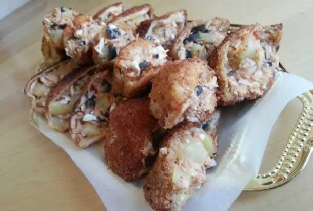 Beignets de pain de mie façon fricassés tunisiens