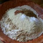 ajout de cannelle, anis moulu, levure, gomme arabique, sel