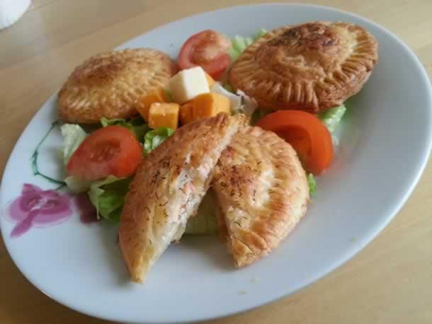 Friands au saumon fumé et fromage frais