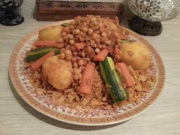 Nouacers au veau et légumes