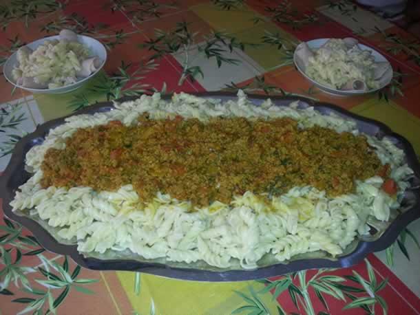 Pâte à la bolognaise façon marocaine