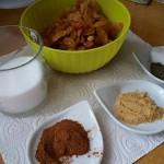 Les ingrédients pour la préparation de la tfaya.