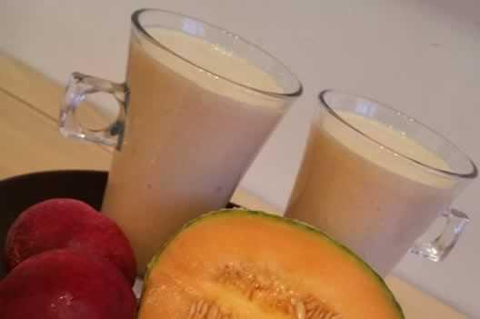 Milk shake au melon et à la nectarine…