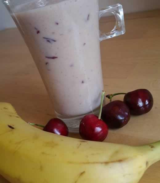 Milk-shake bananes-cerises