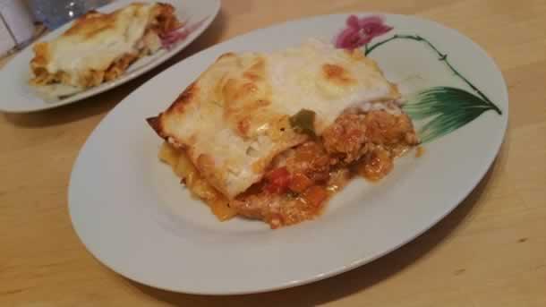 Lasagnes à la dinde et aux légumes