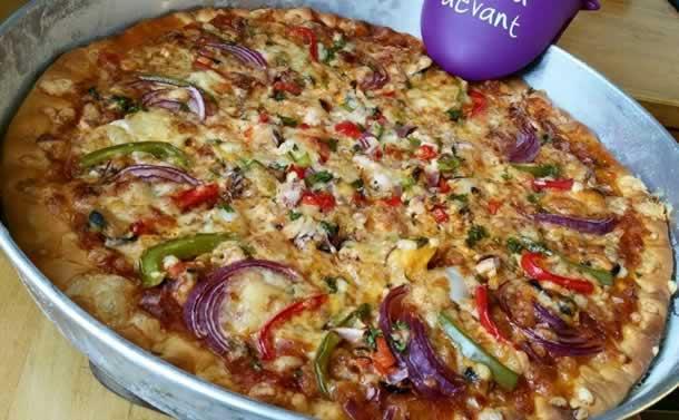 Pizza aux fruits de mer (à la pâte magique)