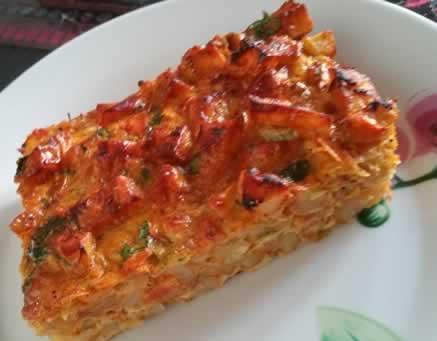 Tortilla de rissolées aux légumes