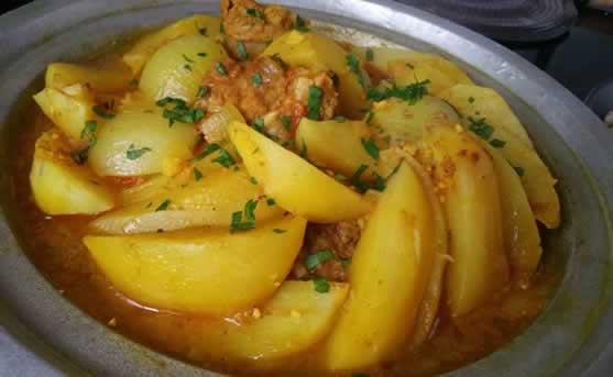 Tajine de veau aux pommes de terre