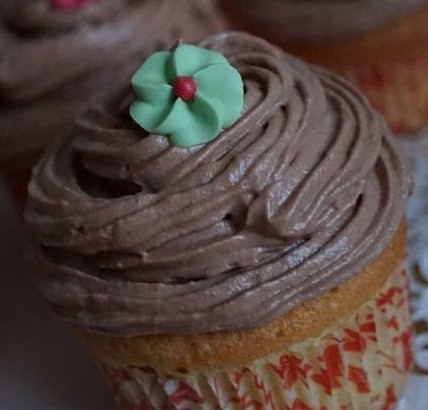 Cupcake vanille topping au nutella