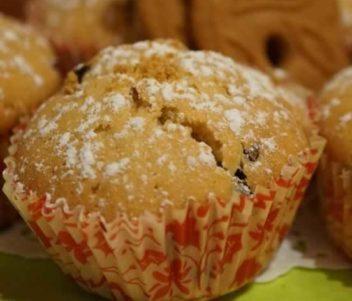 Muffins aux pépites de chocolat et spéculos aux coeurs de spéculos ou de Nutella