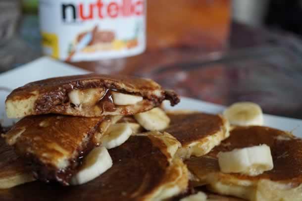 Pancakes au nutella/banane