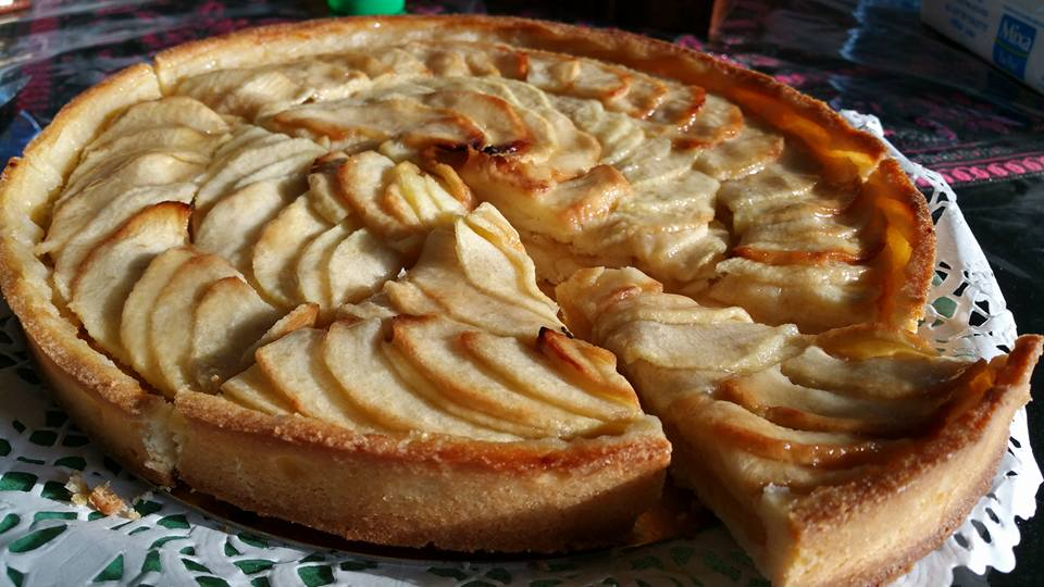 Tarte aux pommes traditionnelle cuisine du monde - Recette tarte normande traditionnelle ...
