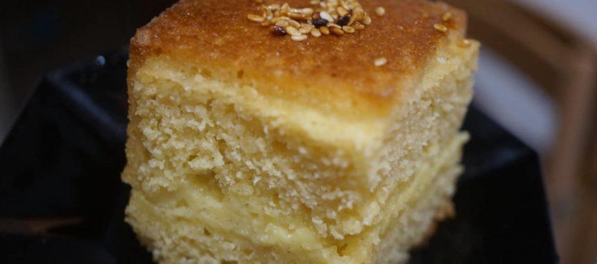 Gâteau de semoule fourrée à la crème pâtissière
