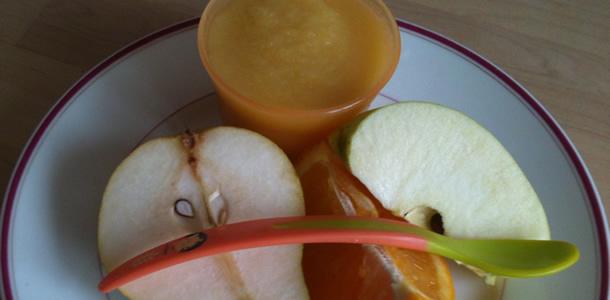 Compote de pomme/poire/orange pour bébé (à partir de 4 mois)