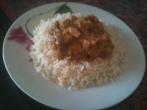 Agneau au gingembre et son riz
