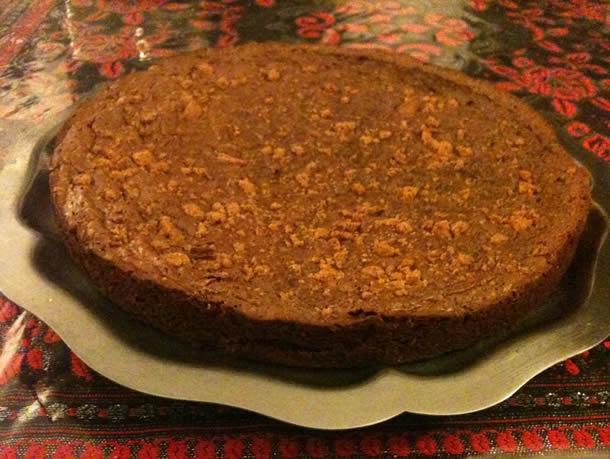 Gâteau tout chocolat au concassés de spéculos