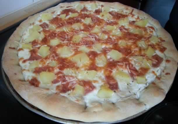 Pizza au jambon de dinde (base crème fraîche)