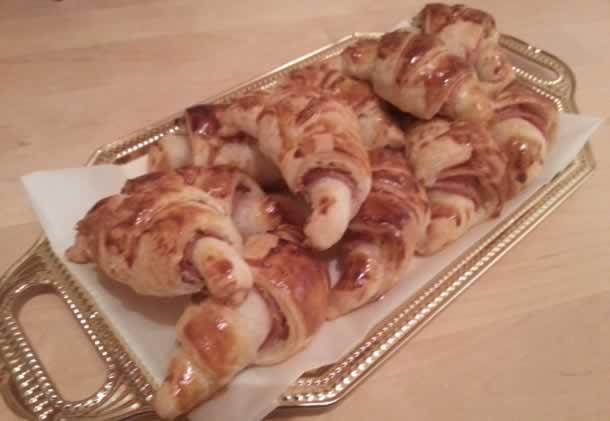Minis croissants ail et fines herbes/jambon de dinde