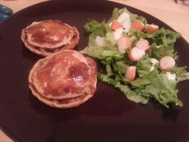 Tourtelettes aux légumes et thon