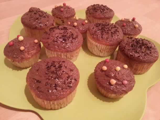 Muffins à la vanille au coeur chocolat noir