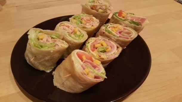 Wrap fraîcheur façon salade