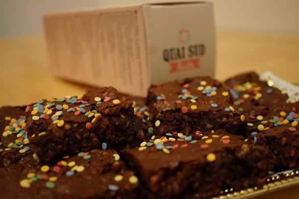 Brownies avec la préparation KIDS de mon partenaire Quai Sud