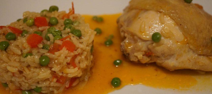 «Arroz con pollo» (riz au poulet à l'espagnole)