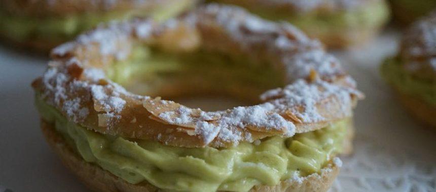 Paris-Brest traditionnel au praliné et à la pistache