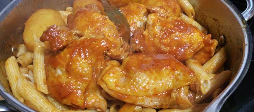 Pennes au poulet à la sauce tunisienne